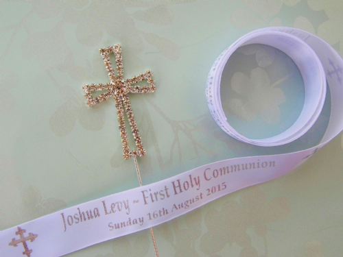 Personalised First Holy Communion Ribbon
